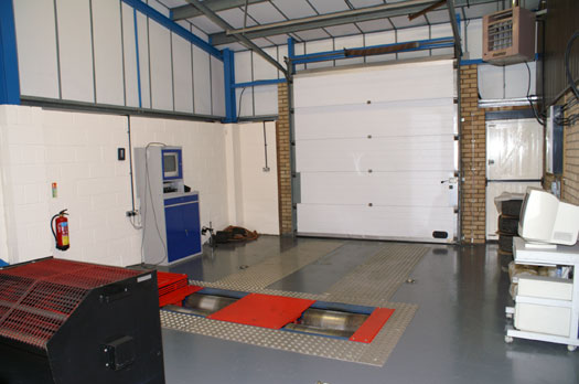 Our dyno cell with the old dyno - Click for Full Size