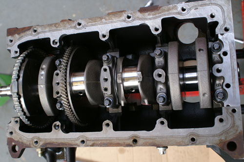 Crank Re-fitted - Lightened and Balanced