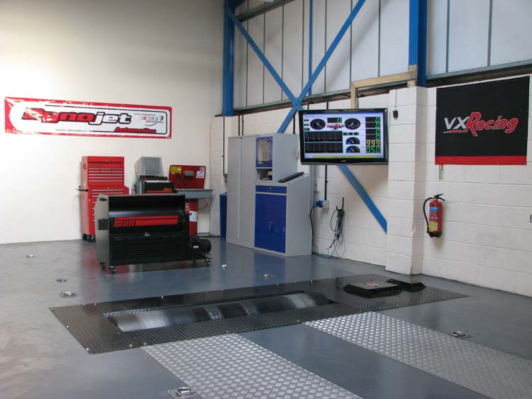 Our Dynojet dyno in our dyno cell - Click for Full Size