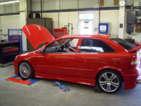 Astra V6 on the rollers
