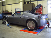 VX220 Turbo on the rollers